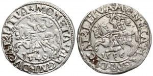 Zygmunt II August, Półgrosz Wilno 1549 i 1556 (2szt)