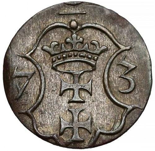 Bezkrólewie, Denar Gdańsk 1573 - 7 łuków - rzadki