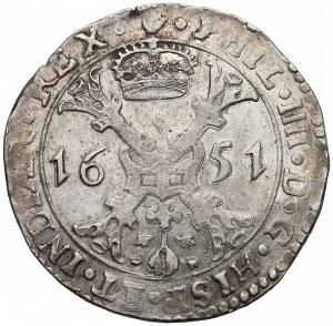 Niderlandy Hiszpańskie, Brabancja, Filip IV, Patagon 1651