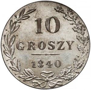 10 groszy 1840 MW, Warszawa - wąska ósemka