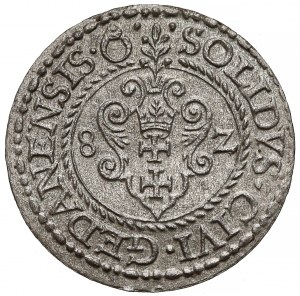 Stefan Batory, Szeląg Gdańsk 1582 - piękny