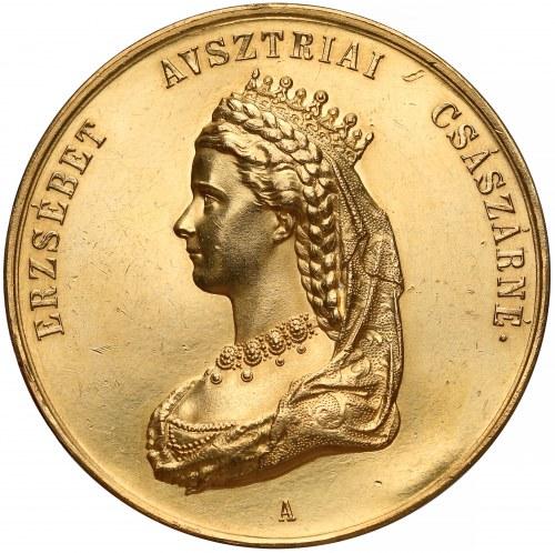 Austro-Węgry, Medal koronacyjny 15 dukatów 1867 - efektowny