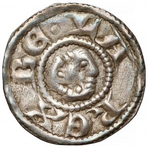 Węgry, Bela III (1172–96) lub Bela IV (1235-70), Brakteat - BELA REX