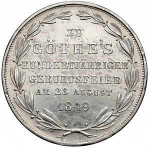 Niemcy, Frankfurt, Podwójny gulden 1849 - Goethe