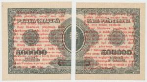 1 grosz 1924 - BG* - prawa i lewa połowa (2szt)