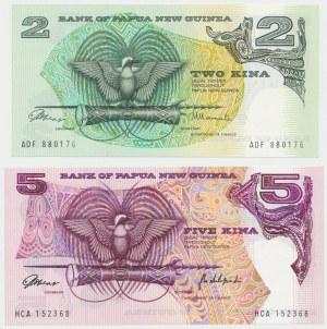 Papua-Nowa Gwinea, 2 i 5 kina (1981) - zestaw 2szt
