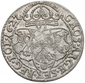 Zygmunt III Waza, Szóstak Kraków 1627 - mała głowa