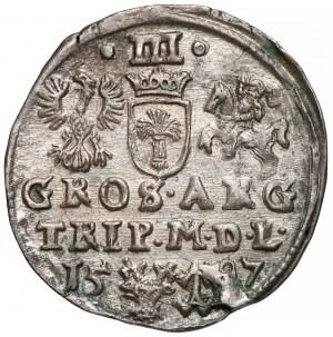 Zygmunt III Waza, Trojak Wilno 1597 - piękny