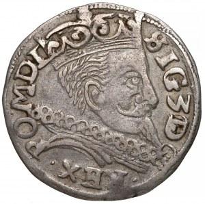 Zygmunt III Waza, Trojak Lublin 1597 - prosta kryza
