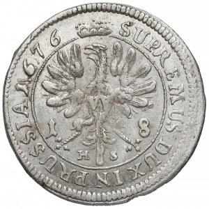 Niemcy, Prusy, Fryderyk Wilhelm, Ort Królewiec 1676 HS