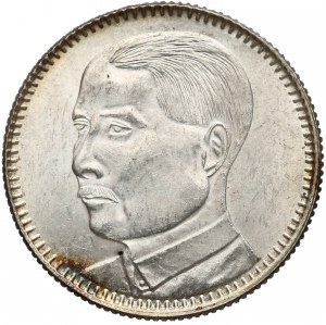 Chiny, Kwangtung, 20 centów rok 18 (1929)