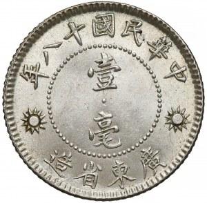 Chiny, Republika, Kwangtung, 10 centów rok 18 (1929) - prezydent Sun Yat-sen