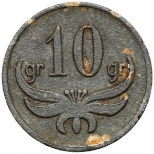 Chorzów, 75 Pułk Piechoty - 10 groszy (nominał nienotowany w Bartoszewickim)