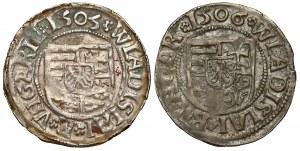 Węgry, Władysław II, Denar 1505-06, zestaw (2szt)
