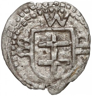 Władysław II Jagiełło, Denar Wschowa - z literami - bardzo rzadki
