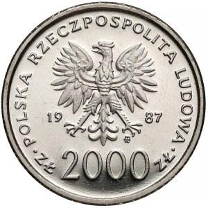 Próba NIKIEL 2000 złotych 1987 Jan Paweł II - z krzyżem