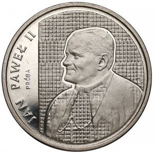Próba NIKIEL 2000 złotych 1989 Jan Paweł II - na kratce