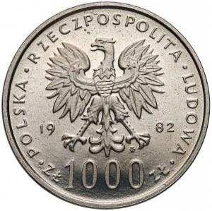 Próba NIKIEL 1.000 złotych 1982 Jan Paweł II - głowa