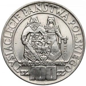 Próba NIKIEL 100 złotych 1966 Mieszko... postacie