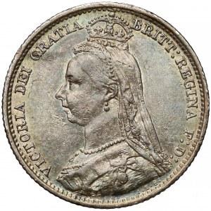 Wielka Brytania, Wiktoria, 6 pensów 1891