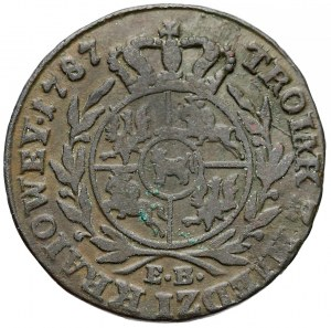 Poniatowski, Trojak Z MIEDZI KRAIOWEY 1787 E.B.