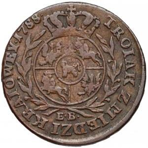 Poniatowski, Trojak Z MIEDZI KRAIOWEY 1788 E.B.