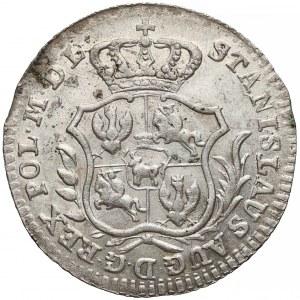 Poniatowski, Półzłotek 1766 F.S. - 7 listków
