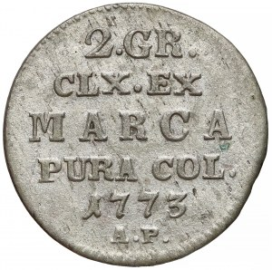 Poniatowski, Półzłotek 1773 A.P.