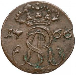 Poniatowski, Szeląg Gdańsk 1766 F.L.S.
