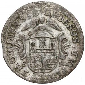 Poniatowski, Trojak Toruń 1765 SB - niski monogram