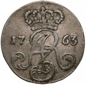 August III Sas, Trojak Toruń 1763 - bez liter - rzadki