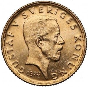 Szwecja, Gustaw V, 5 koron 1920-W