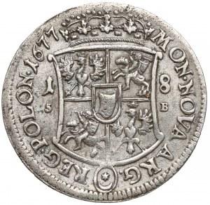 Jan III Sobieski, Ort Bydgoszcz 1677 SB - tarcza wklęsła