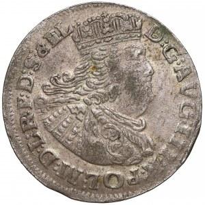 August III Sas, Szóstak Gdańsk 1763 REOE - wąska głowa