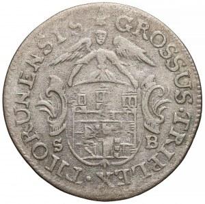 Poniatowski, Trojak Toruń 1764 SB - b. rzadki