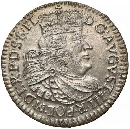 August III Sas, Szóstak Toruń 1763 DB - PIĘKNY i rzadki