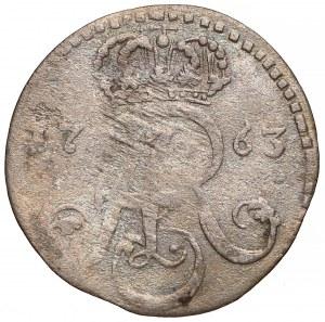 August III Sas, Trojak Toruń 1763 DB - prosta korona - rzadszy