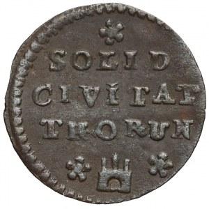 August III Sas, Szeląg Toruń 1760 - data przy koronie - małe litery