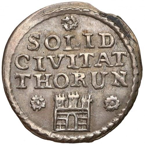 August III Sas, Szeląg Toruń 1760 - odbitka w srebrze - rzadki