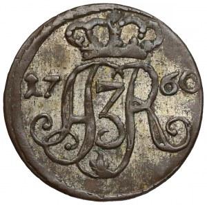 August III Sas, Szeląg Toruń 1760 - data przy monogramie - b. ładny