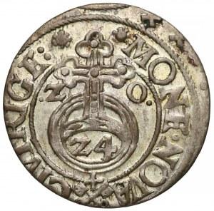 Zygmunt III Waza, Półtorak Ryga 1620 - klucze - piękny (R3)