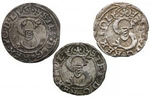 Stefan Batory, Szelągi Ryga 1582-1585 (3szt)