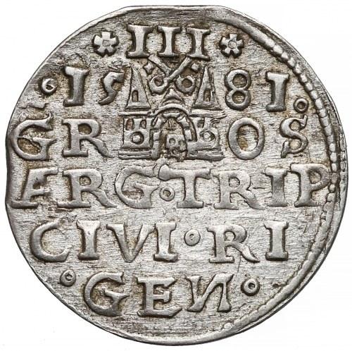 Stefan Batory, Trojak Ryga 1581 - pierwszy - rzadki
