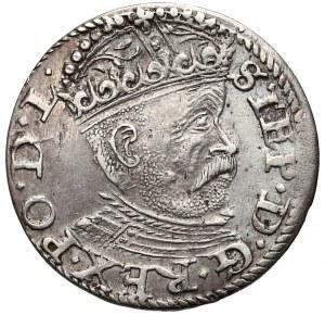 Stefan Batory, Trojak Ryga 1585 - zdobiony czepiec