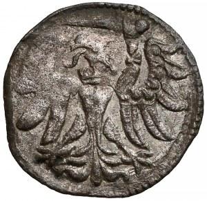 Zygmunt II August, Denar Gdańsk 1557 - prosta korona - ładny