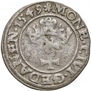 Zygmunt II August, Szeląg Gdańsk 1549 - rzadki