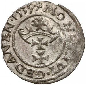 Zygmunt I Stary, Szeląg Gdańsk 1539 - trójlistek