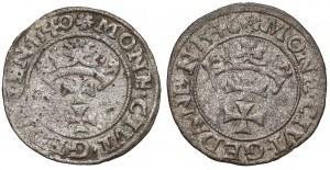 Zygmunt I Stary, Szelągi Gdańsk 1540 i 1546 - zestaw (2szt)