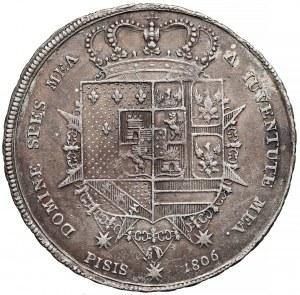 Włochy, Toskania, 10 paoli = Francescone 1806