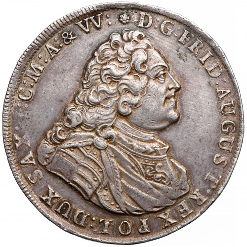 August III Sas, Talar Drezno 1738 FWóF - rzadki